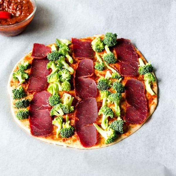 全麦#披萨#花椰菜