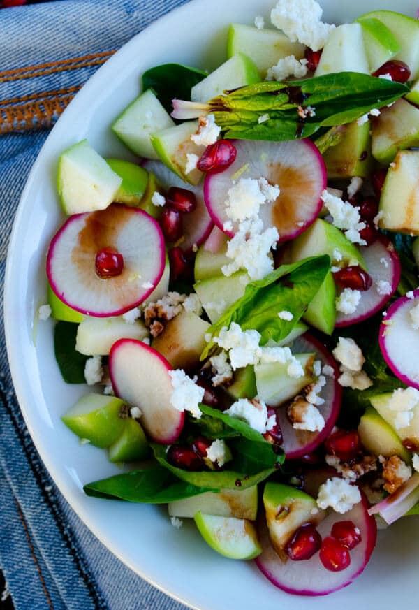 菠菜、苹果沙拉giverecipe.com | | #菠菜沙拉#苹果# #萝卜#健康#素食者