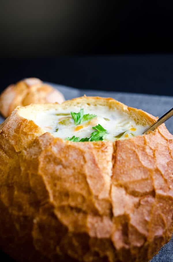 奶油的蔬菜汤giverecipe.com | | # #蔬菜汤