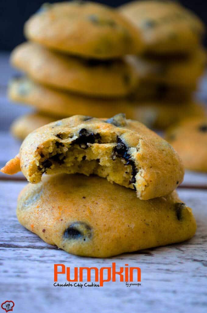 南瓜南瓜巧克力饼干giverecipe.com | | # # chocolatechips # #烘焙饼干# # fallrecipes下降狗万