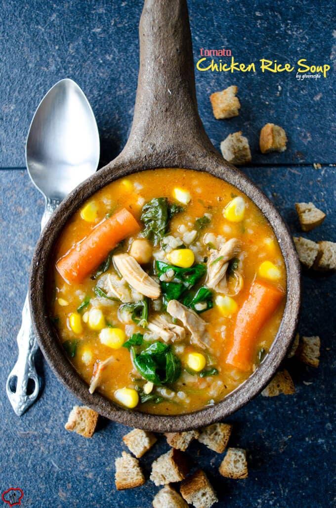 番茄鸡饭汤giverecipe.com | | # chickensoup