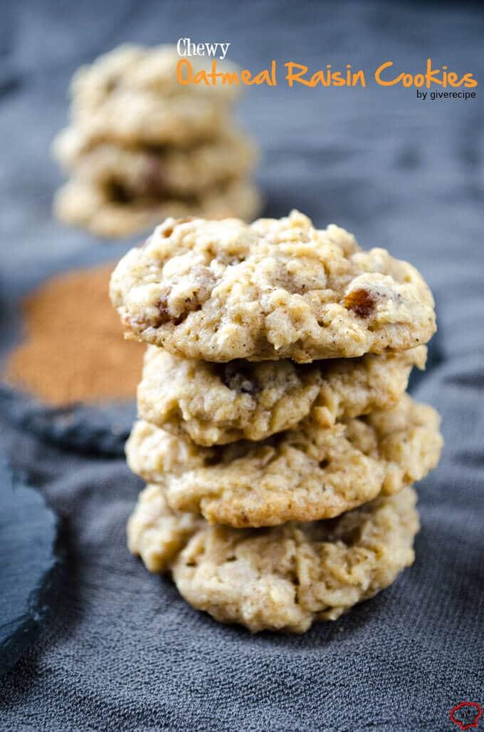 耐嚼的燕麦葡萄干饼干giverecipe.com | | # #燕麦饼干