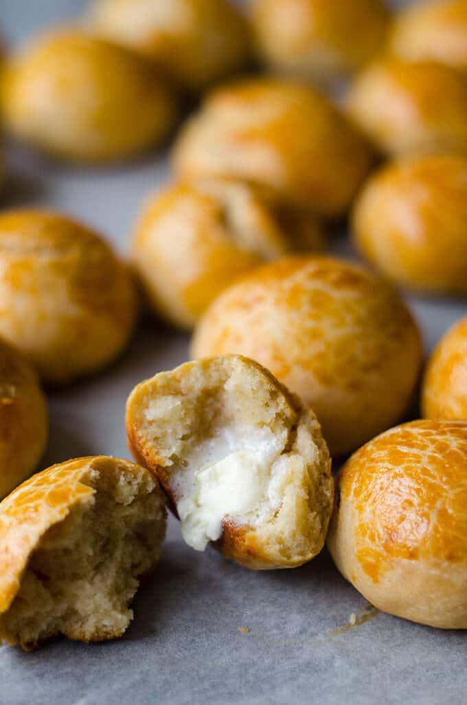 没有酵母棉软晚餐卷|giverecipe.com|面包卷