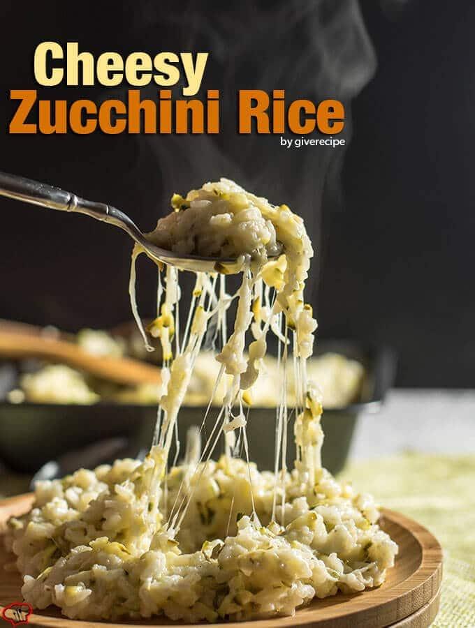 干酪西葫芦大米将成为整个家庭尽管西葫芦最喜欢的一面。100%保证!——giverecipe.com