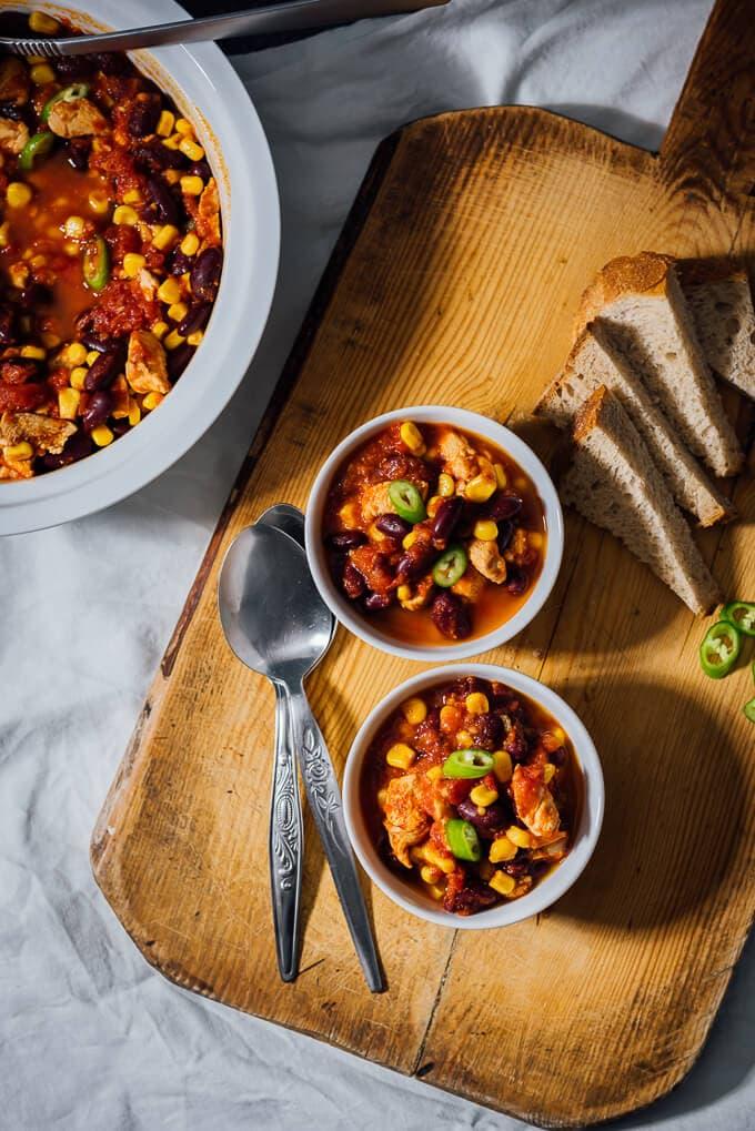 快速和简单的鸡辣椒是丰盛的快餐,每个忙碌的妈妈需要。容易,快所以丰盛!#广告