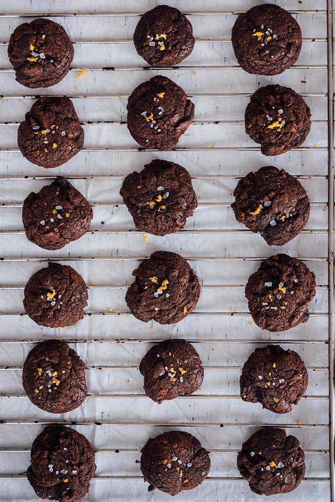 熔融巧克力柑橘和融化的巧克力饼干和普通话热情带你去天堂。他们还略脆在外面和柔软耐嚼。他们比你快眨眼间就会消失!!
